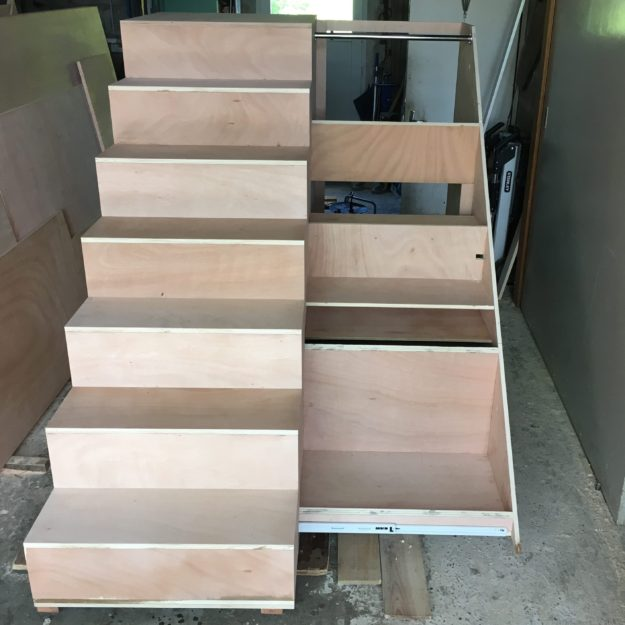 escalier penderie